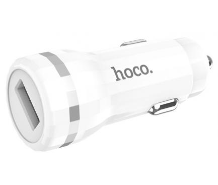 Incarcator Auto USB HOCO QC3.0 Z27A, 1 X USB, Alb, Blister