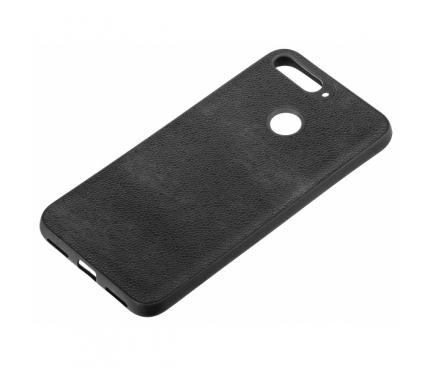 Husa TPU OEM Ultra Slim Leather pentru Apple iPhone XS, Neagra, Bulk