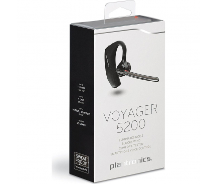 Handsfree Casca Bluetooth Plantronics Voyager 5200, Multipoint, Negru, Blister PLB00114