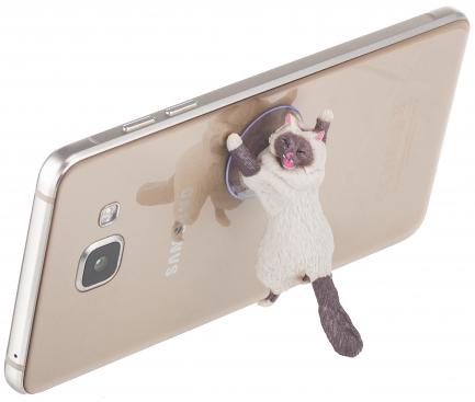 Suport birou Universal OEM pentru telefon, Cute Cat, Multicolor, Bulk
