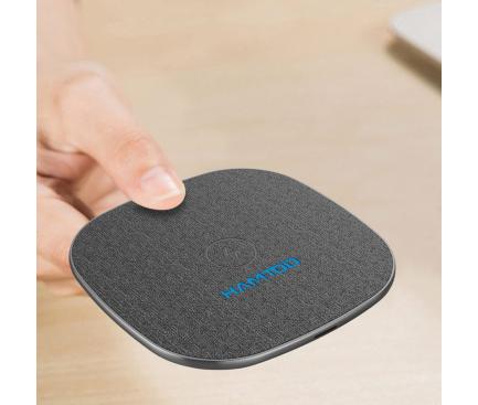 Incarcator Retea Wireless Hamtod M9 Desktop Intelligent Qi, Quick Charge, Gri - Negru, Blister