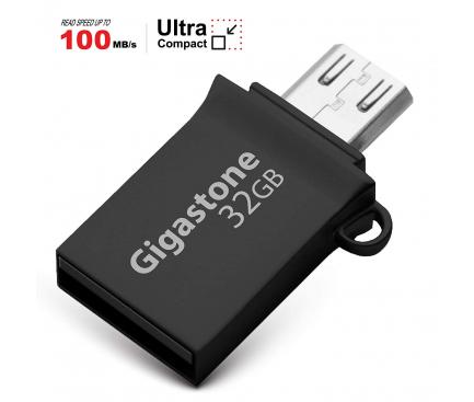 Memorie Externa Gigastone, MicroUSB OTG - USB 3.0, 32Gb, Argintie, Blister