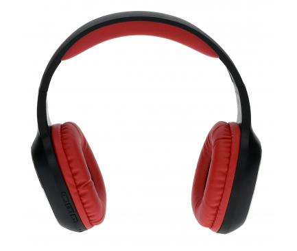 Handsfree Casti Bluetooth Rebeltec Wave, Negru - Rosu, Blister RBLSLU00033