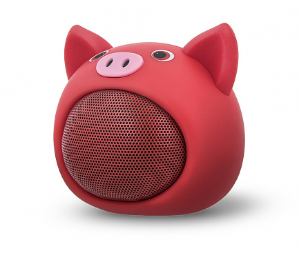 Mini Difuzor Bluetooth Forever Sweet Animal Pig Rose ABS-100, Multicolor, Blister D1020