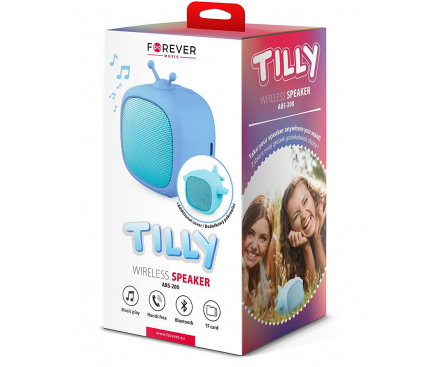 Mini Difuzor Bluetooth Forever Tilly ABS-200, Albastru Blister C033