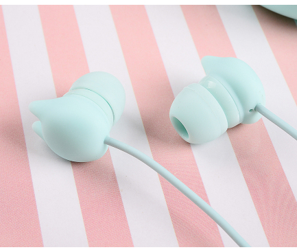 Handsfree Casti In-Ear Tellur Macaron, Cu microfon, 3.5 mm, Turqoise, Blister TLL162132