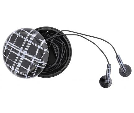 Handsfree Casti In-Ear Tellur Berry, Cu microfon, 3.5 mm, Negru, Blister TLL162182