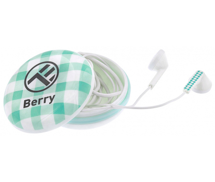 Handsfree Casti In-Ear Tellur Berry, Cu microfon, 3.5 mm, Verde, Blister TLL162192
