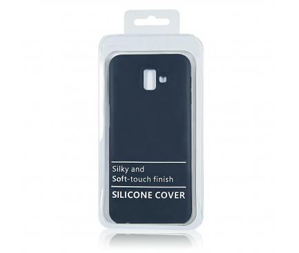 Husa TPU OEM Pure Silicone pentru Samsung Galaxy A50 A505, Bleumarin, Blister