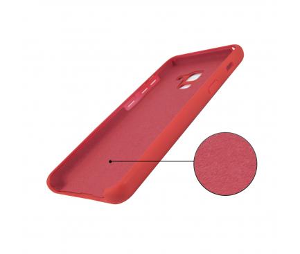 Husa TPU OEM Pure Silicone pentru Samsung Galaxy A50 A505, Rosie, Blister