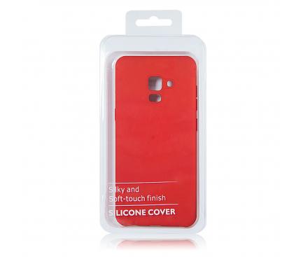Husa TPU OEM Pure Silicone pentru Samsung Galaxy A70 A705, Rosie, Blister