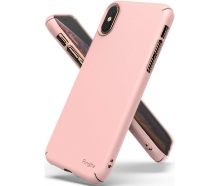 Husa Plastic Ringke Slim pentru Apple iPhone X / Apple iPhone XS, Roz, Blister SLAP0031