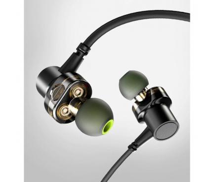 Handsfree Casti Bluetooth Awei In-Ear, X660BL, MultiPoint, Negru, Blister