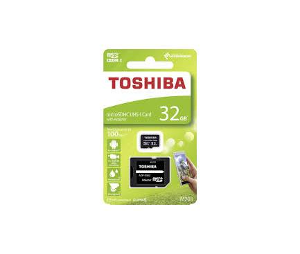 Card Memorie MicroSDHC Toshiba M203, Cu adaptor, 32Gb, Clasa 10 - UHS-1 U1, Blister THN-M203K0320EA