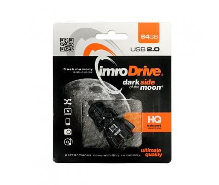 Memorie Externa Imro Pendrive Lord Vader, USB 2.0, 32Gb, Neagra, Blister