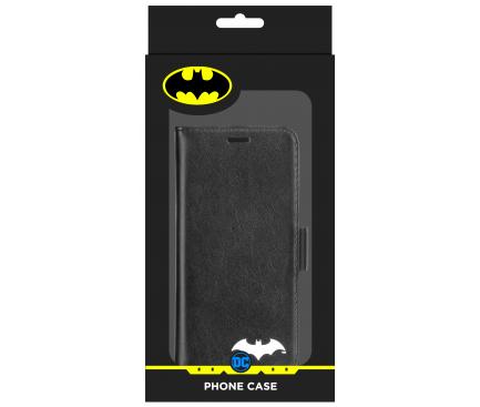 Husa TPU DC Comics Magnetic Wallet Batman 025 pentru Apple iPhone X, Neagra, Blister