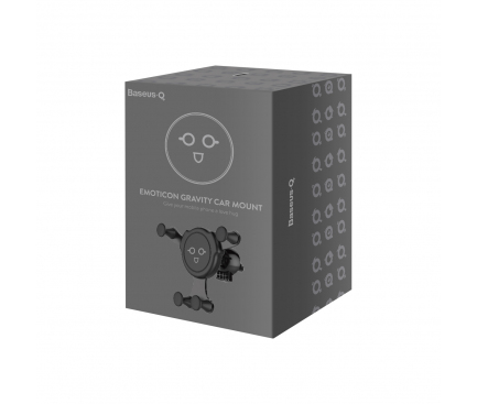 Suport Auto Universal Baseus Emoticon2 gravity, Negru, Blister SUYL-EMKX