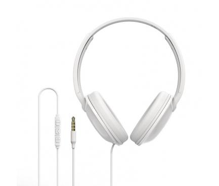 Handsfree Casti Over-Ear Borofone BO1 Sound, Cu microfon, 3.5 mm, Alb, Blister