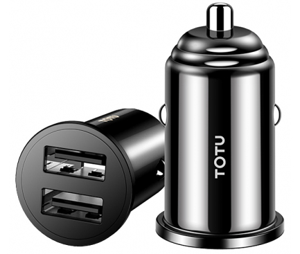 Incarcator Auto USB Totu Design Jane DCCD-014 Mini, 2 X USB, Negru, Blister