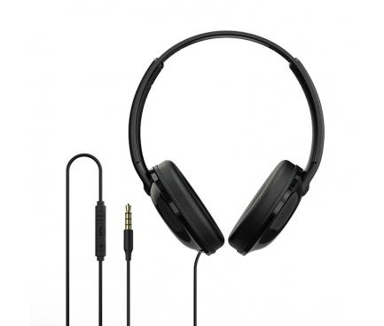 Handsfree Casti Over-Ear Borofone BO1, Cu microfon, 3.5 mm, Negru, Blister
