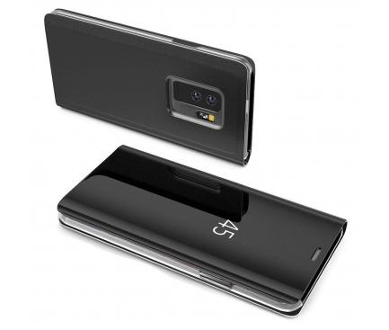 Husa Plastic OEM Clear View Samsung Galaxy A70 A705, Neagra, Blister