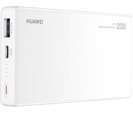 Baterie Externa Powerbank Huawei CP12S, 12000 mA, SuperCharge, 40W, 1 x USB - USB Type-C, Alba, Blister 55030727