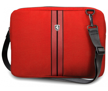 Geanta textil pentru Laptop Ferrari Urban Collection, 13 inci, Rosu FEURCSS13RE