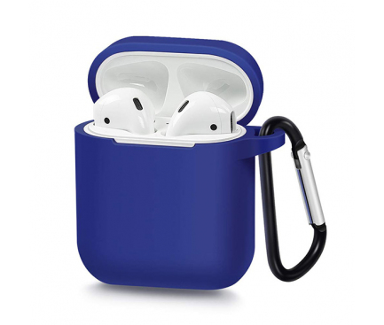 Husa silicon OEM pentru Airpods Type 1, Albastra Blister