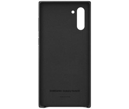 Husa Piele Samsung Galaxy Note 10 N970 / Samsung Galaxy Note 10 5G N971, Leather Cover, Neagra, Blister EF-VN970LBEGWW