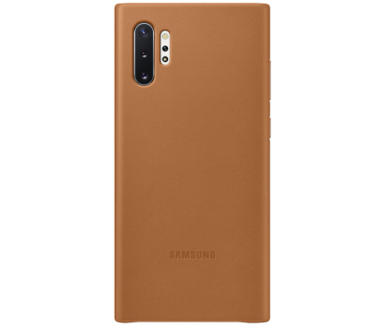 Husa Piele Samsung Galaxy Note 10+ N975, Leather Cover, Camel, Blister EF-VN975LAEGWW