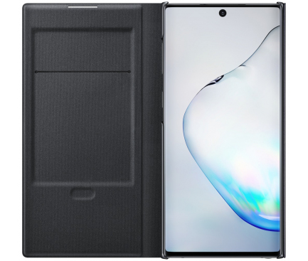 Husa Samsung Galaxy Note 10 N970, LED View Cover, Neagra, Blister EF-NN970PBEGWW
