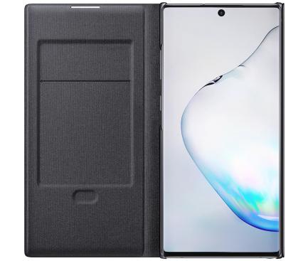 Husa Samsung Galaxy Note 10+ N975, LED View Cover, Neagra, Blister EF-NN975PBEGWW