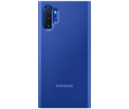 Husa Samsung Galaxy Note 10+ N975, LED View Cover, Albastra, Blister EF-NN975PLEGWW