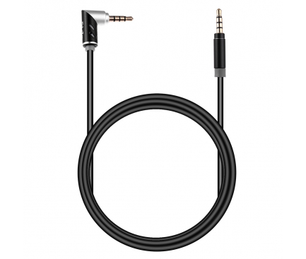 Cablu Audio 3.5 mm la 3.5 mm OEM Elbow, 1.5 m, Negru, Bulk