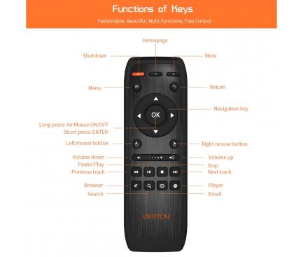 Telecomanda multifunctionala Wireless VIBOTON KB-91S 2.4GHz  Blister Originala