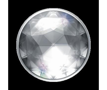 Suport Stand Adeziv Popsockets PopGrip Premium pentru telefon Disco Crystal Silver Blister Original