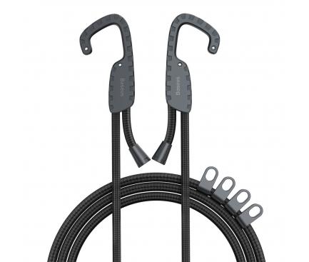 Coarda elastica Multifunctionala Baseus ACTLS-01, cu suport umeras, 1.5 m, Neagra, Blister