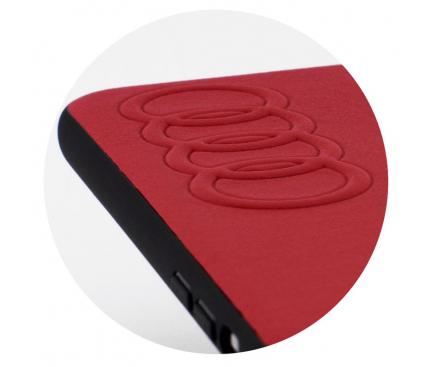 Husa Piele AUDI pentru Apple iPhone XS Max, Rosie AU-TPUPCIPXSM-TT/D1-RD