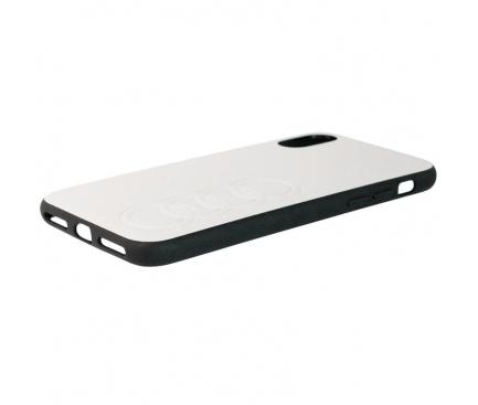 Husa Piele AUDI pentru Apple iPhone XS Max, Alba AU-TPUPCIPXSM-TT/D1-WE