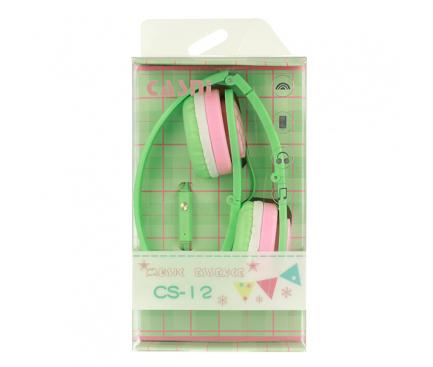 Handsfree Casti On-Ear CASNI CS12, Cu microfon, 3.5 mm, Verde, Blister