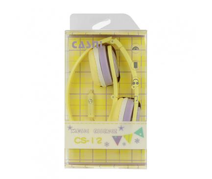 Handsfree Casti On-Ear CASNI CS12, Cu microfon, 3.5 mm, Galben, Blister