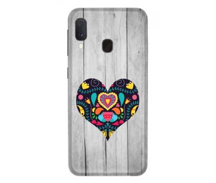 Husa TPU CaseGadget Black Heart pentru Samsung Galaxy A20e, Multicolor, Bulk