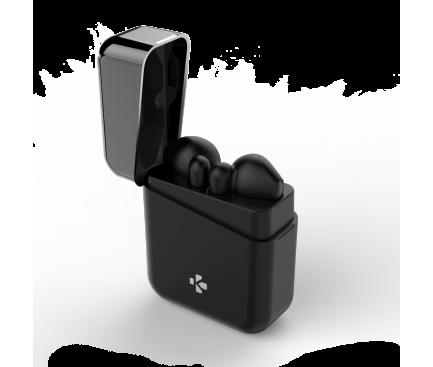 Handsfree Casti Bluetooth MyKronoz ZeBuds TWS, Splashproof IPX4, Negru, Blister