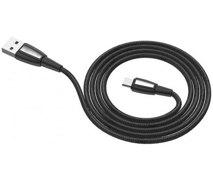 Cablu Date si Incarcare USB la MicroUSB HOCO X39 Titan, 2.4A, 1 m, Negru, Blister