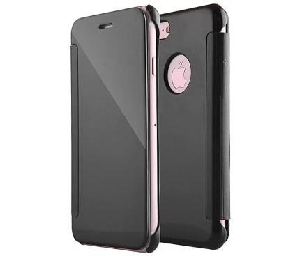 Husa Piele Tellur Mirror pentru Apple iPhone 7 / Apple iPhone 8, Neagra, Blister TLL185171