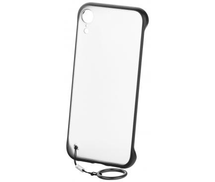 Husa TPU OEM Frosted Anti-alunecare, cu suport inel telefon pentru Apple iPhone XS Max, Neagra