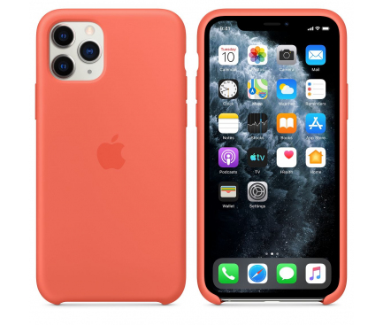 Husa Silicon Apple iPhone 11 Pro, Portocalie, Blister MWYQ2ZM/A