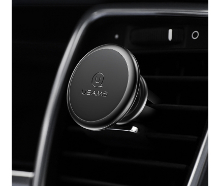 Suport Auto Universal Usams US-ZJ047 Lead-Tu pentru Telefon, Magnetic, Negru, Blister
