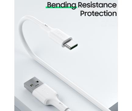 Cablu Date si Incarcare USB la USB Type-C Benks D35, 5A, 1.8 m, Alb, Blister