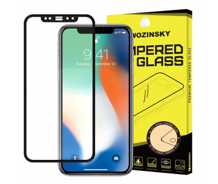 Folie Protectie Ecran WZK pentru Apple iPhone XR / Apple iPhone 11, Sticla securizata, Full Face, Full Glue, Neagra, Blister